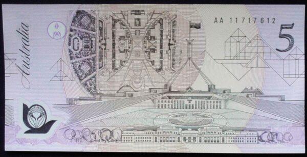 1992 Australia Five Dollars Polymer - AA11
