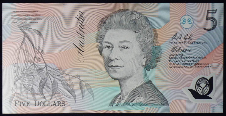 1992 Australia Five Dollars Polymer - AA12