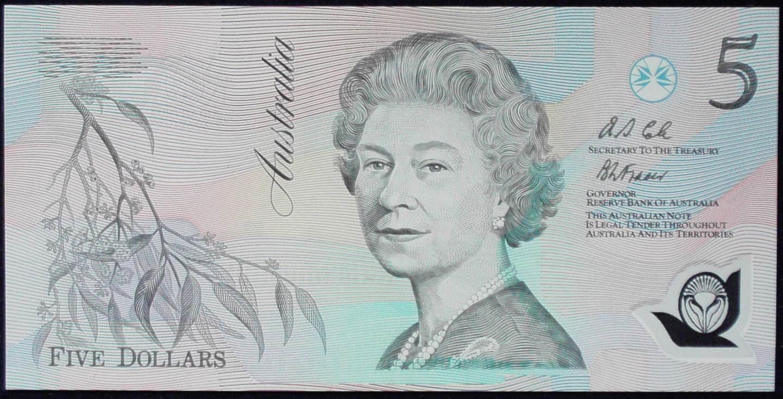 1992 Australia Five Dollars Polymer - AA17