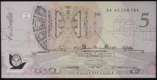 1992 Australia Five Dollars Polymer - AA43