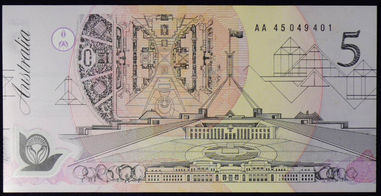 1992 Australia Five Dollars Polymer - AA45  A