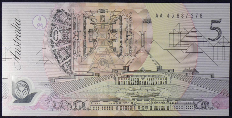 1992 Australia Five Dollars Polymer - AA45 B