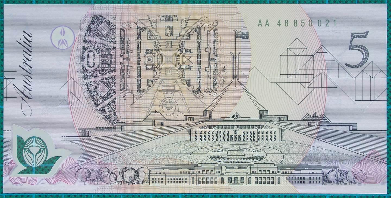 1992 Australia Five Dollars Polymer - AA48