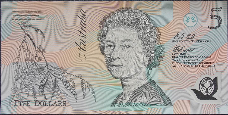 1992 Australia Five Dollars Polymer - AA54