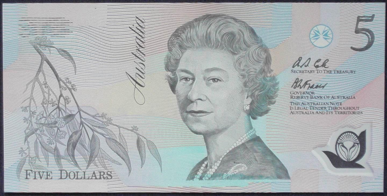 1992 Australia Five Dollars Polymer - AA55