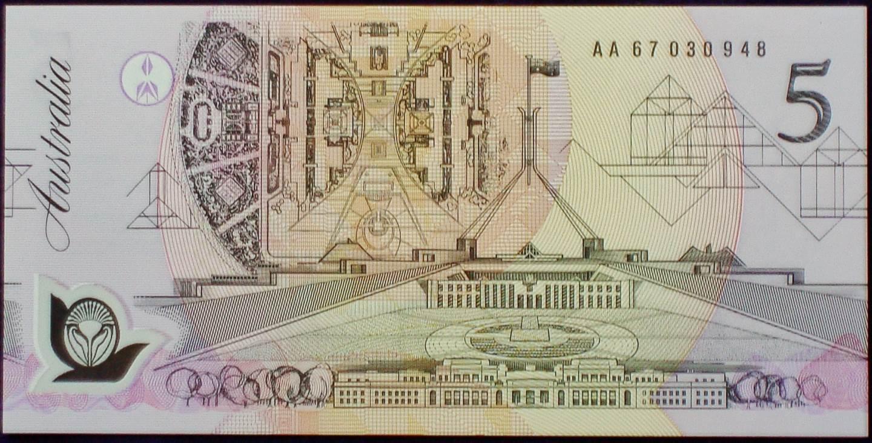 1992 Australia Five Dollars Polymer - AA67