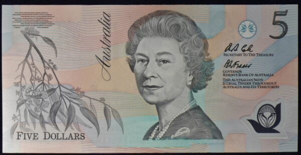 1992 Australia Five Dollars Polymer - AB10