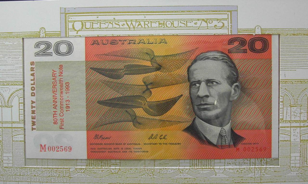 1993 80th Anniversary Issue x 2 -$20 Red M00 Notes with OvPT