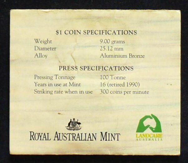 1993 Australia 1 Dollar Royal Easter  Show Coin