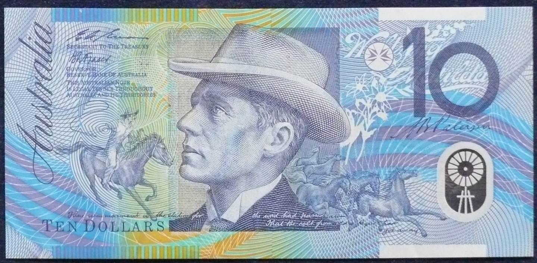1993 Australia Ten Dollars Polymer - AA 93