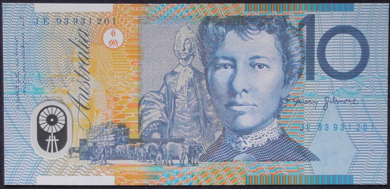 1993 Australia Ten Dollars Polymer - JE 93