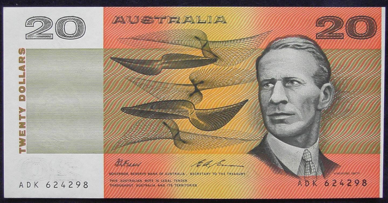 1993 Australia Twenty Dollars - ADK - Last Prefix