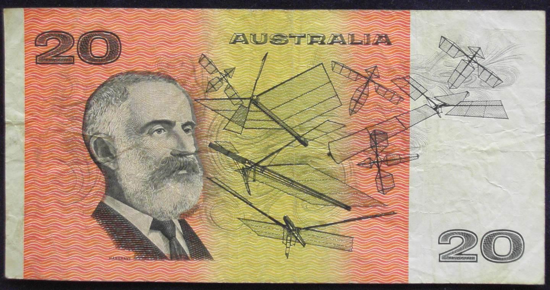 1993 Australia Twenty Dollars Paper - ADB