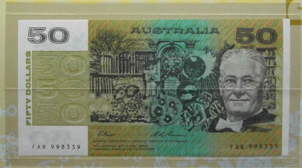 1995 Australia Fifty Dollars Last and First NPA Folder
