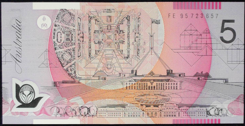 1995 Australia Five Dollars Polymer - FE95