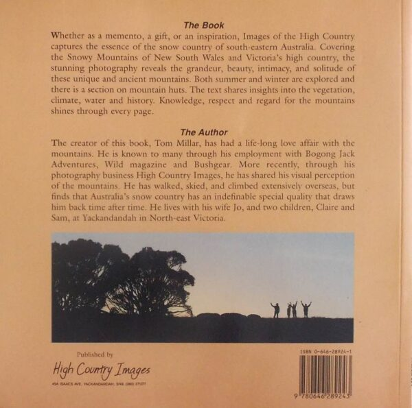1996 IMAGES OF THE HIGH COUNTRY BY TOM MILLAR