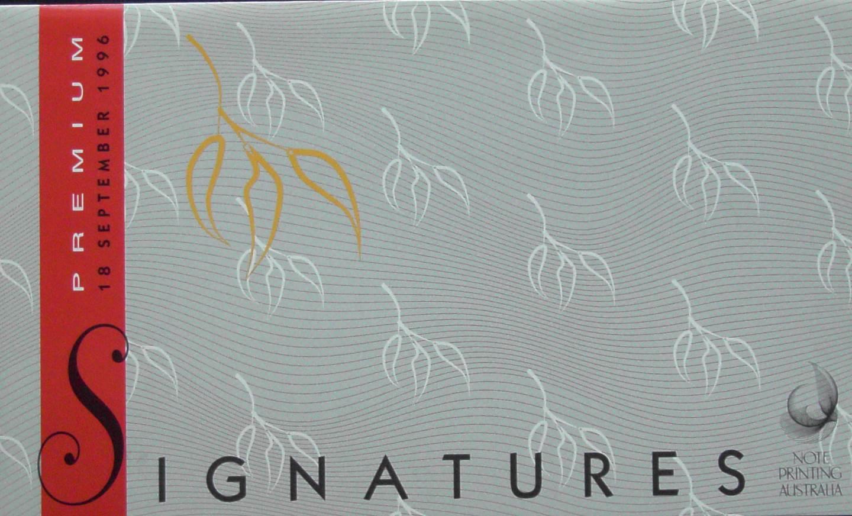 1996 Australia Five Dollars Premium Signatures NPA Folder
