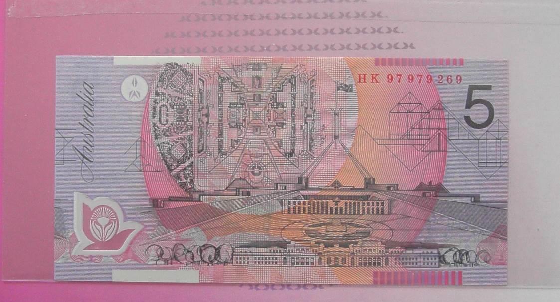 1997 $5 Australia Commemorative NPA Folder - HK97