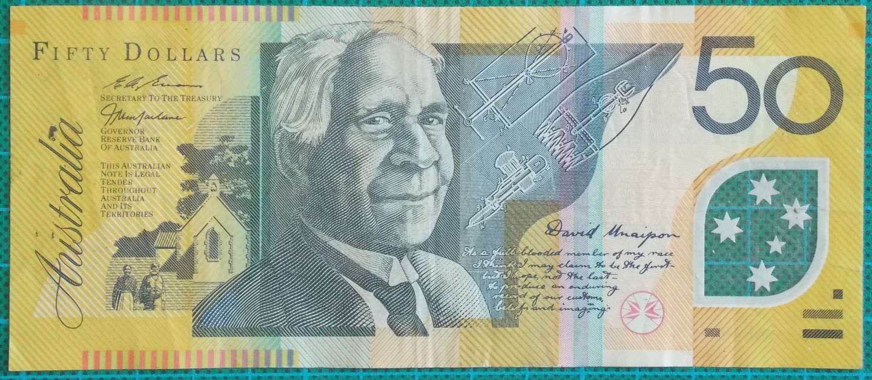 1997 Australia Fifty Dollars EJ97476724