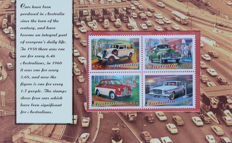 1997 Australia Post Stamp Pack - Classic Cars