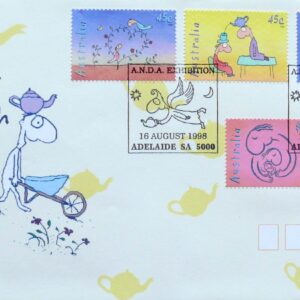 1998 Australia Post FDC- Teapot Of Truth - Michael Leunig - Square PM