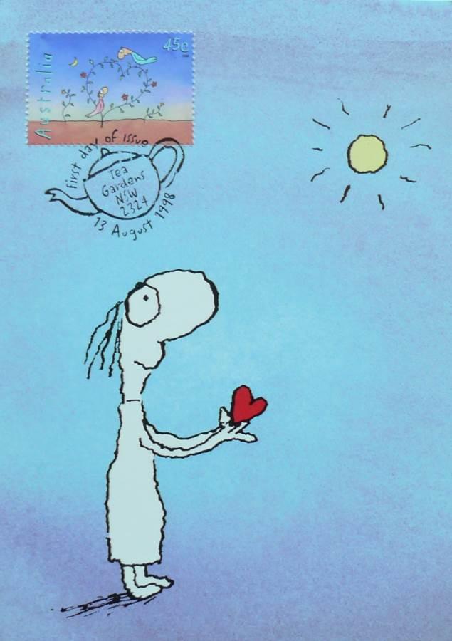 1998 Australia Post Maximum Card - Michael Leunig Heart