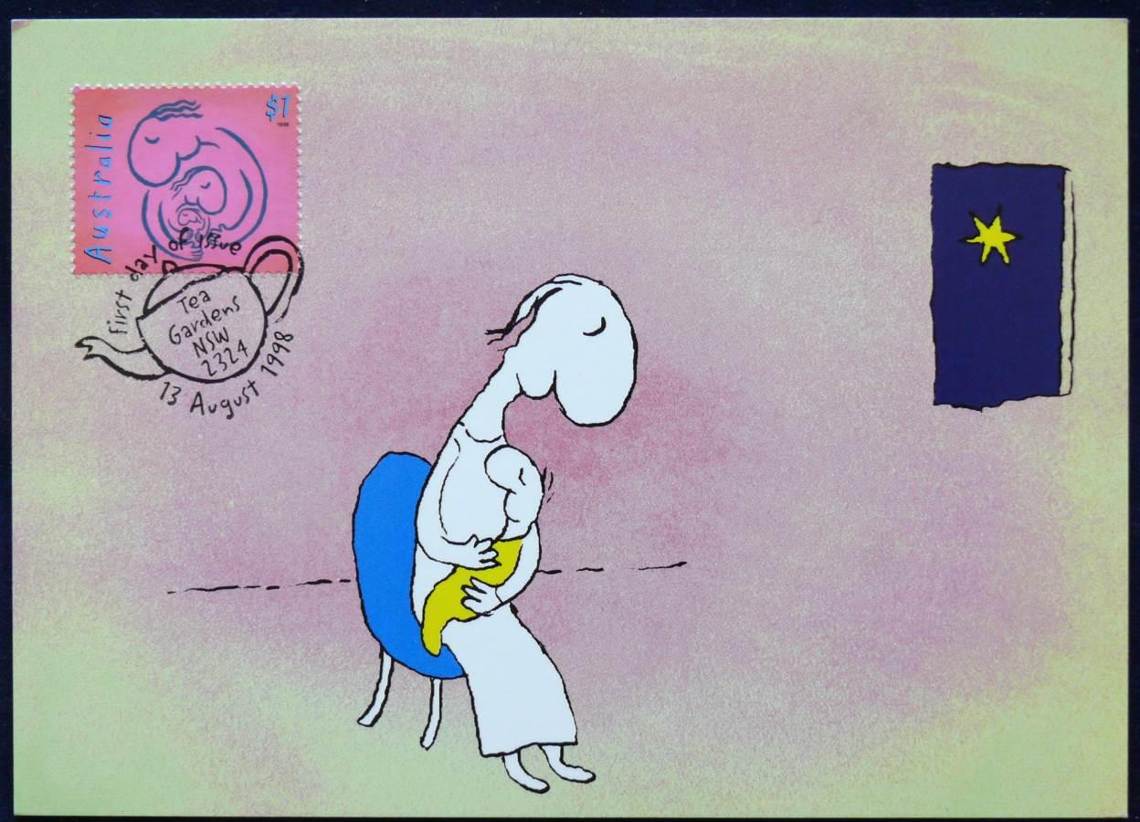 1998 Australia Post Maximum Card - Michael Leunig - Mother