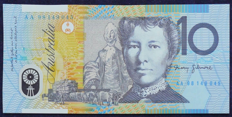 1998 Australia Ten Dollars Polymer - AA 98