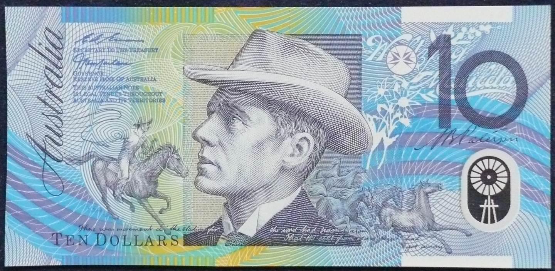 1998 Australia Ten Dollars Polymer - GL 98 - Last Prefix