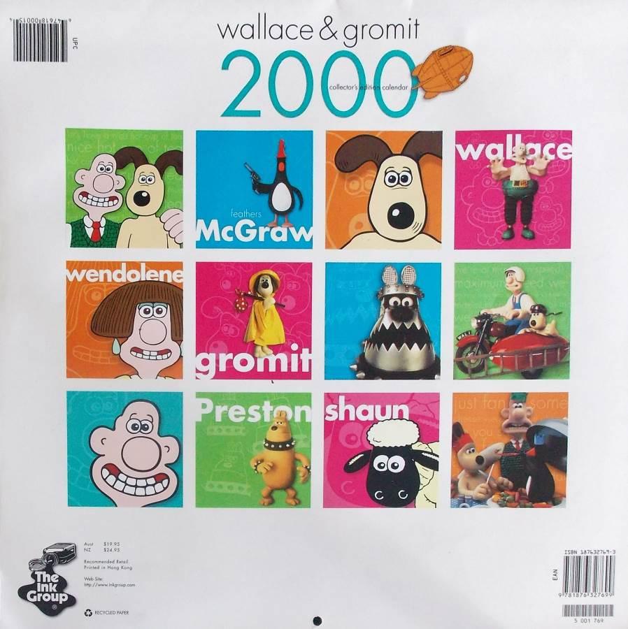 2000 WALLACE AND GROMIT CALENDAR AUSTRALIAN EDITION