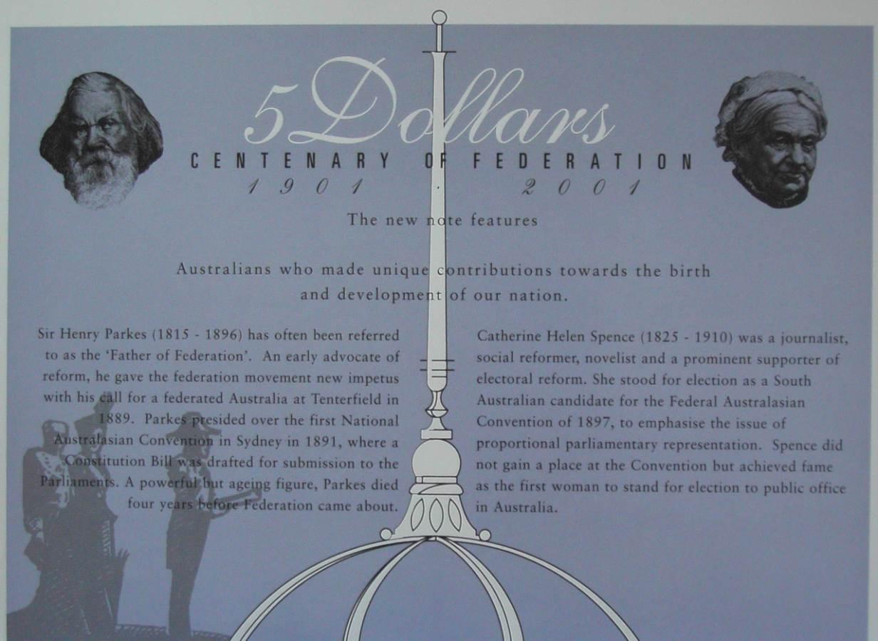 2001 Australia NPA Folder - Centenary of Federation - AA01