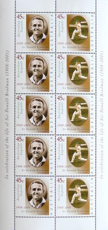 2001 Australia Post Tribute Sheetlet - Sir Donald Bradman