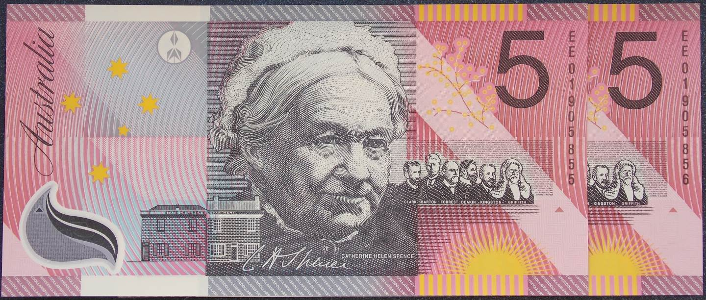 2001 Five Dollars Centenary of Federation EE01 Pair