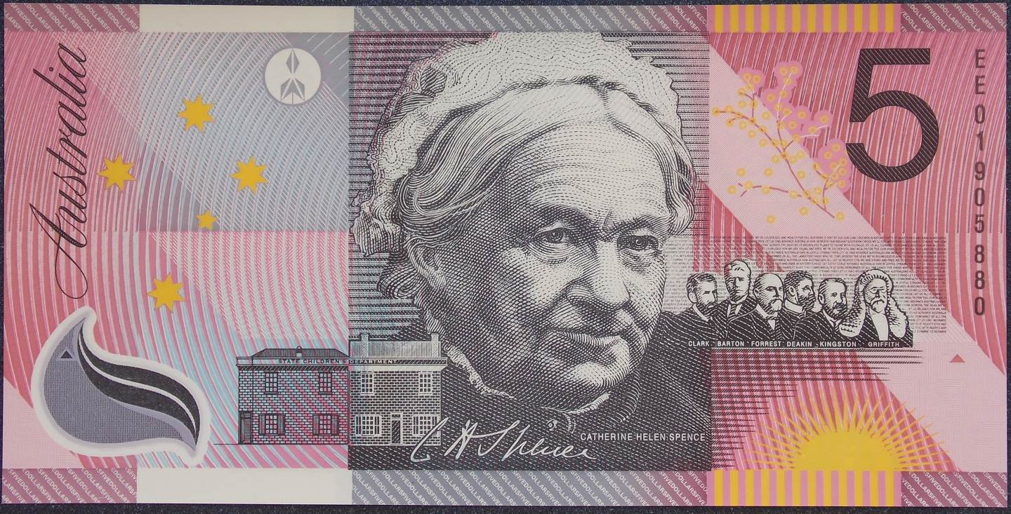 2001 Five Dollars Centenary of Federation EE01 UNC