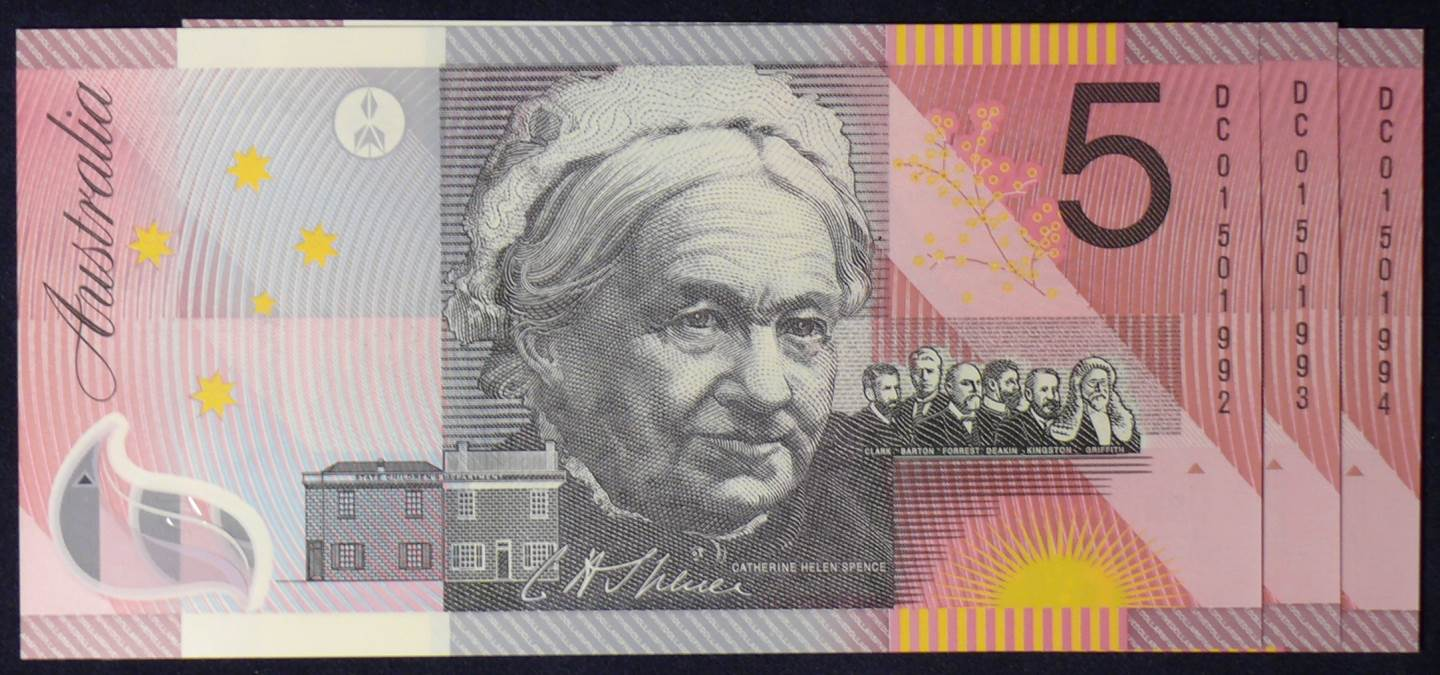 2001 Five Dollars Centenary of Federation X 3 - DC01