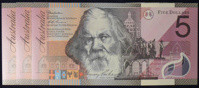 2001 Five Dollars Centenary of Federation X 3 - DD01