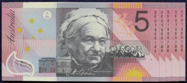 2001 Five Dollars Centenary of Federation X 5 - DK01