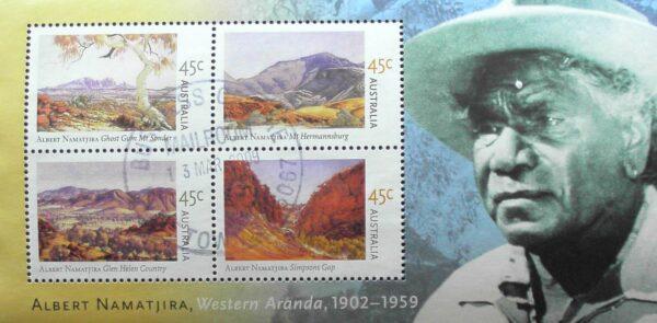 2002 Australia Post Mini Sheet - Albert Namatjira