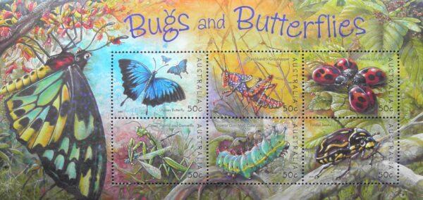 2003 Australia Post Mini Sheet - Bugs and Butterflies