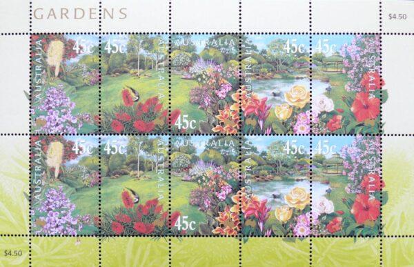 2003 Australia Post Mini Sheet - Gardens