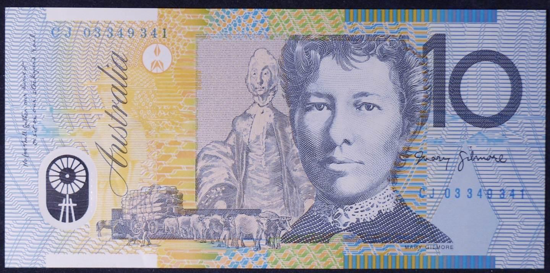 2003 Australia Ten Dollars Polymer - CJ 03