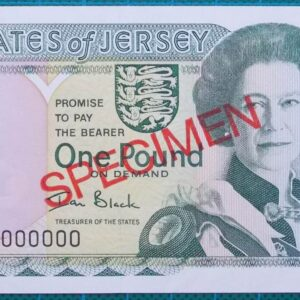 2004 STATES OF JERSEY ONE POUND SPECIMEN BANKNOTE