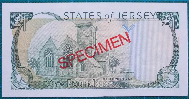 2004 STATES OF JERSEY ONE POUND SPECIMEN BANKNOTE
