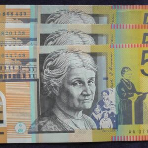 2005 Australia Fifty Dollars - AA 05 / 06 / 07 - 3 x First prefix