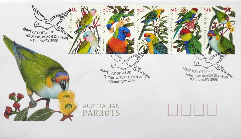 2005 Australia Post FDC - Australian Parrots