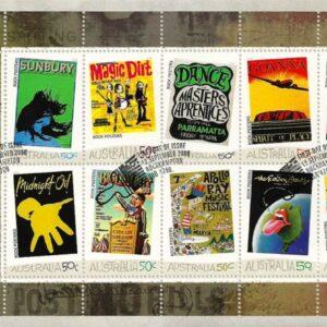 2006 Australia Post FDC - Rock Posters