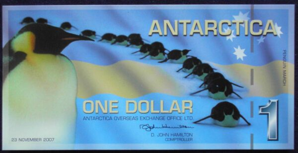 2007 Antarctica One Dollar Conservation Banknote