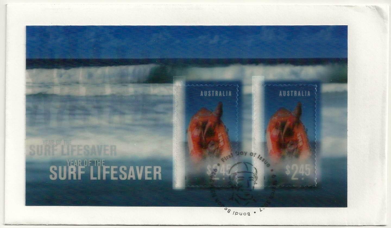 2007 Australia Post FDC - Year of Surf Life Saving - Lenticular