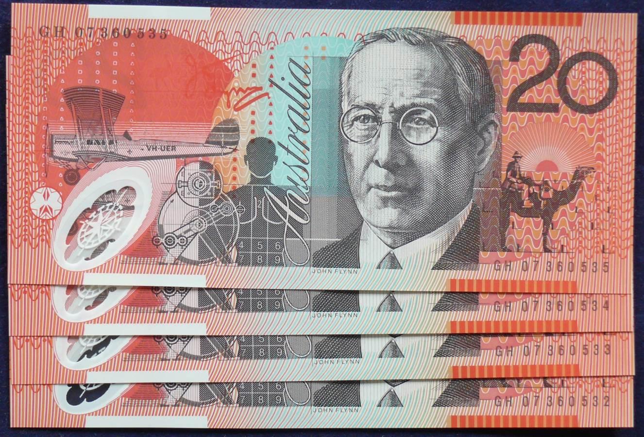 2007 Australia Twenty Dollars x 4 - GH07-B
