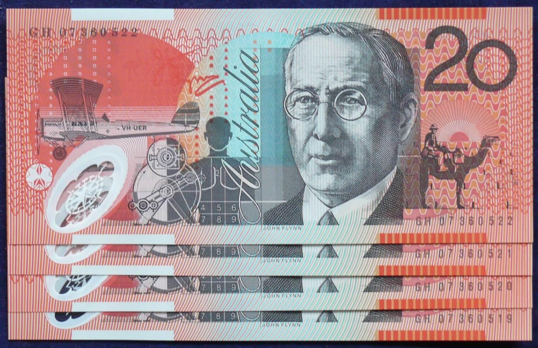 2007 Australia Twenty Dollars x 4 - GH07